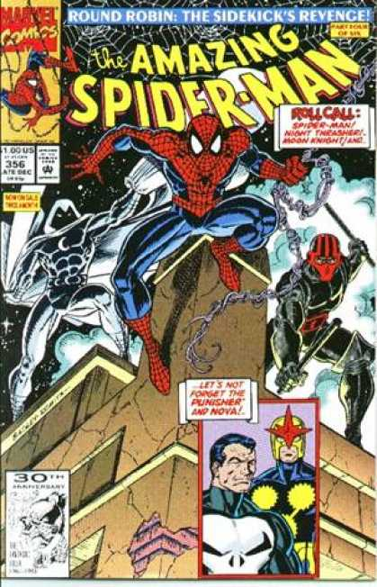 Amazing Spider-Man 356 - Punisher - Nova - Moon Knight - Building - Web - Mark Bagley
