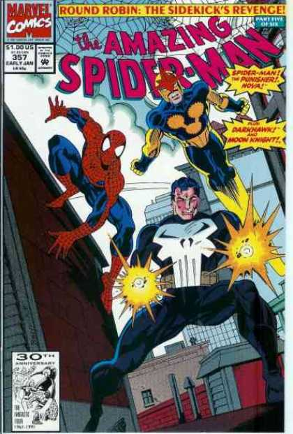 Amazing Spider-Man 357 - Nova - Punisher - Marvel - Round Robin - Superhero - Mark Bagley