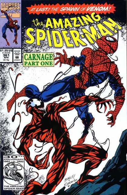 Amazing Spider-Man 361 - Venom - Carnage - Mark Bagley