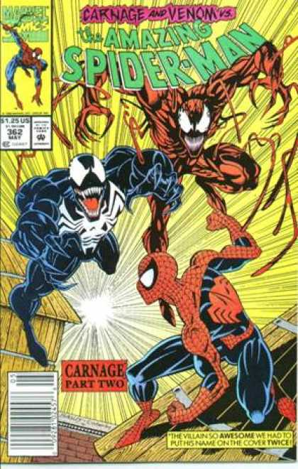 Amazing Spider-Man 362 - Venom - Carnage - Mark Bagley