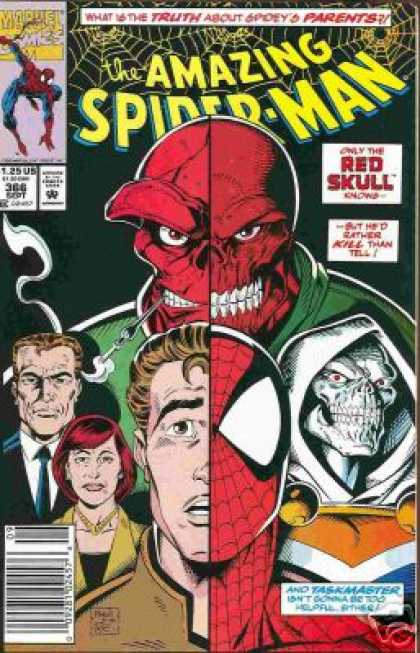 Amazing Spider-Man 366 - Taskmaster - Red Skull - Parents - Peter Parker - Split - Mark Bagley