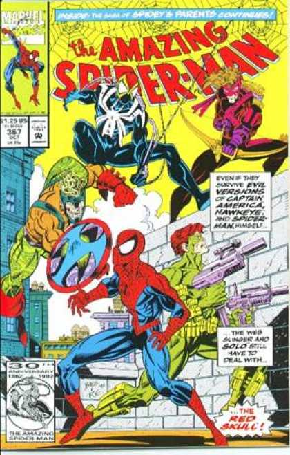 Amazing Spider-Man 367 - Marvel Comics - Guns - Spiderweb - Superhero - Weapons - Mark Bagley