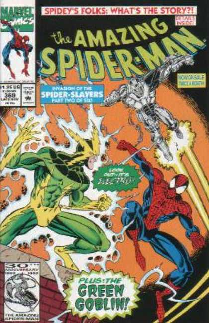 Amazing Spider-Man 369 - Electro - Green Goblin - Spider Slayers - Mark Bagley