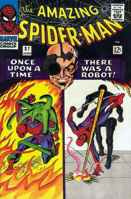 Amazing Spider-Man 37 - Spideys Web - Hot Spot - Death Ray - Once Upon A Time - There Was A Robot