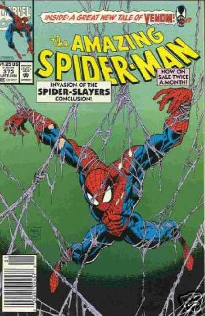 Amazing Spider-Man 373 - Web - Venom - Spiderman - Mark Bagley