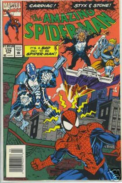 Amazing Spider-Man 376 - Cardiac - Web - Mark Bagley