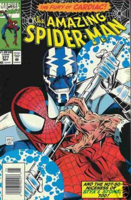 Amazing Spider-Man 377 - Styx - Stone - Cardiac - Hand - Mark Bagley