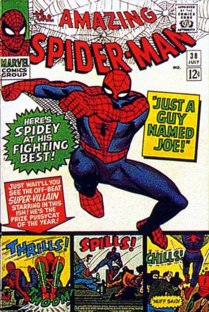 Amazing Spider-Man 38 - Joe - Thrills - Nuff Said - Spiderman - Spills