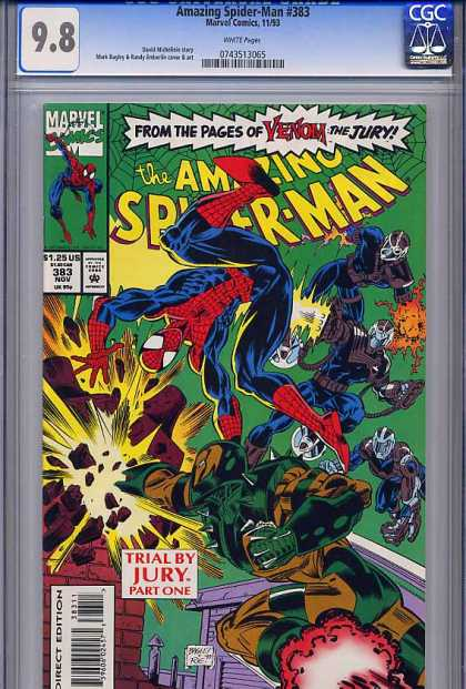 Amazing Spider-Man 383 - Venom - Explosion - Jury - Spiderman - Fight - Mark Bagley