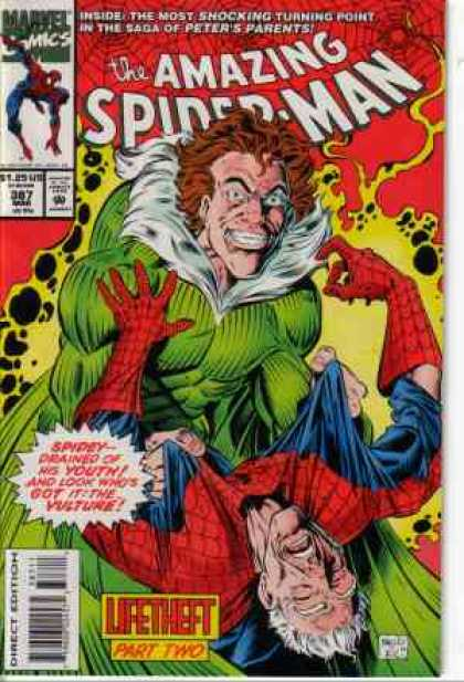 Amazing Spider-Man 387 - Vulture - Old - Lifetheft - Red Hair - Scary - Mark Bagley