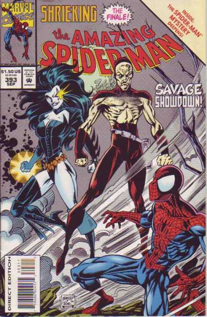 Amazing Spider-Man 393 - Spiderman - Savage Showdown - Finale - Tree - Savage - Mark Bagley