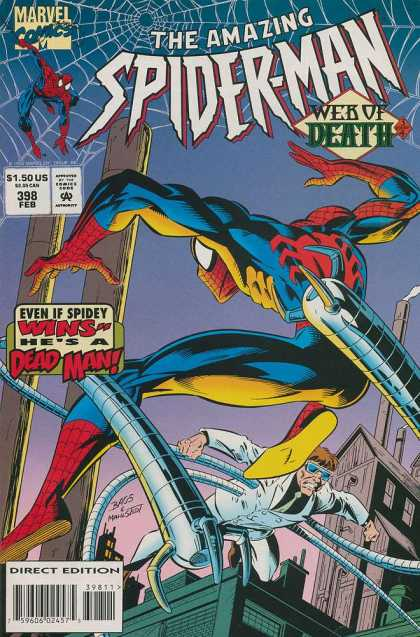 Amazing Spider-Man 398 - Web Of Death - Spider-man - Dr Octopus - Webs - Tentacles - Mark Bagley