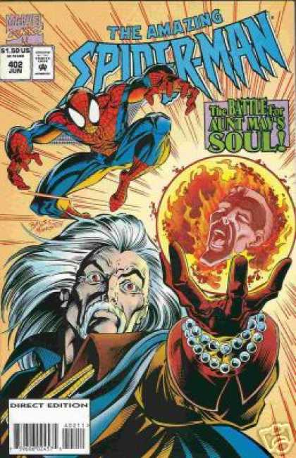 Amazing Spider-Man 402 - Aunt May - Marvel Comics - The Battle For Aunt Mays Soul - Superhero - Mage - Mark Bagley