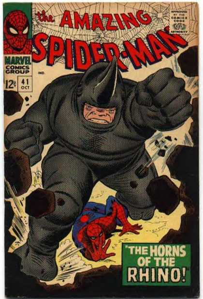 Amazing Spider-Man 41 - Rhino - Rocks - Marvel - Horn - Grey