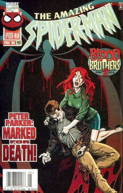 Amazing Spider-Man 411 - Marvel - Marvel Comics - Mary Jane - Blood Brothers - Peter Parker - Mark Bagley