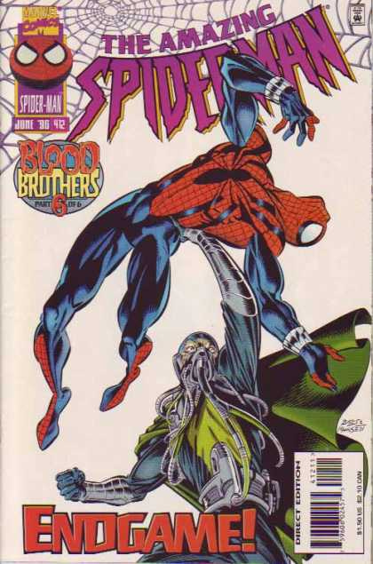 Amazing Spider-Man 412 - Endgame - Mask - Cape - Mark Bagley