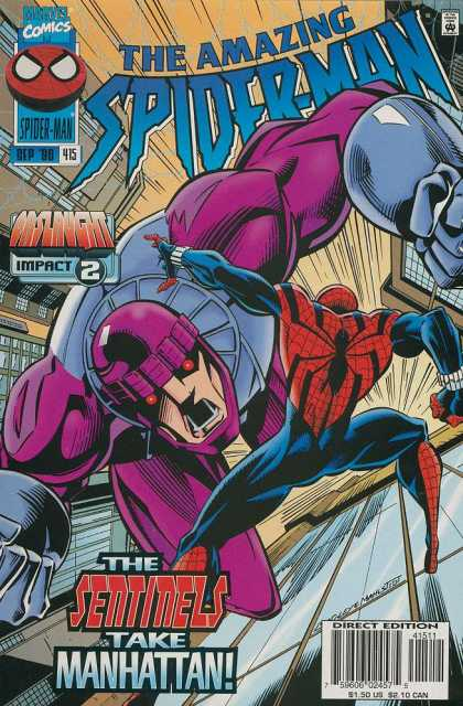 Amazing Spider-Man 415 - The Sentinels Take Manhattan - Spiderman - Comics - Impact 2 - Amazing - Mark Bagley