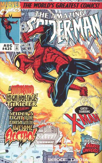 Amazing Spider-Man 425 - Fire - City - Web - Swinging - Spidy - Bud LaRosa