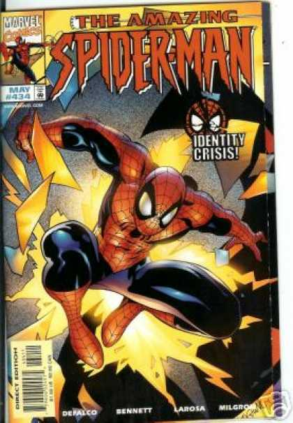 Amazing Spider-Man 434 - Identity Crisis - Shattered - Defalco - Light - Larosa - Mark Buckingham