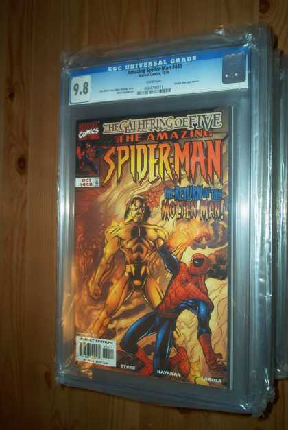 Amazing Spider-Man 440 - Fire - Molten Man - The Gathering Of Five - 440 - Flames - Mike Wieringo