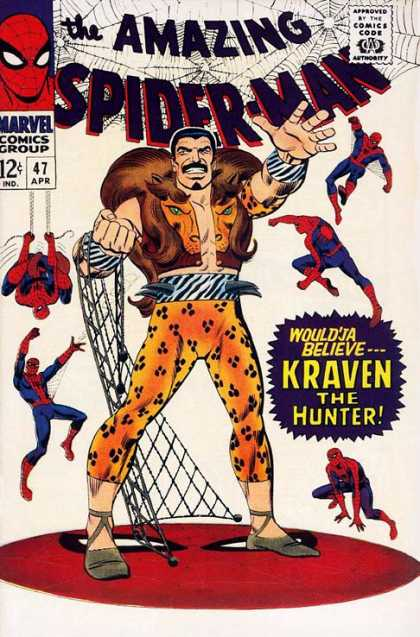 Amazing Spider-Man 47 - Kraven - Hunter - Hunted - Target - Spidey
