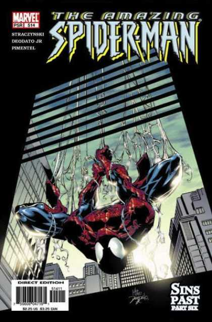 Amazing Spider-Man 514 - Window - Spiderman - Web - Sins Past - Blinds - Deodato Fiho