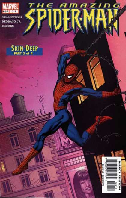 Amazing Spider-Man 517 - Skin Deep - Marvel - Building - Web - Direct Edition - Gary Frank
