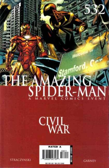 Amazing Spider-Man 532 - Iron Man - A Marvel Comics Event - Civil War - Rated A - Straczynski - Ron Garney