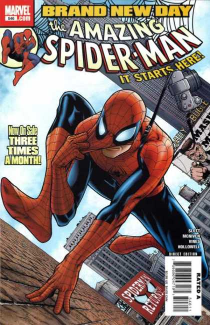 Amazing Spider-Man 546 - Morry Hollowell, Steve McNiven