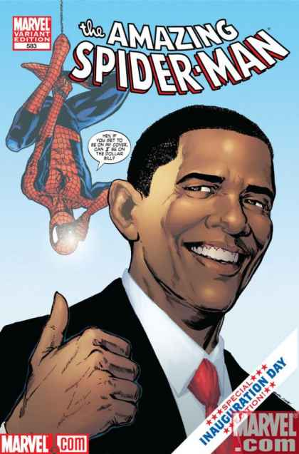 Amazing Spider-Man 583 - Barack Obama