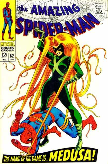 Amazing Spider-Man 62 - Medusa - Hair - Green