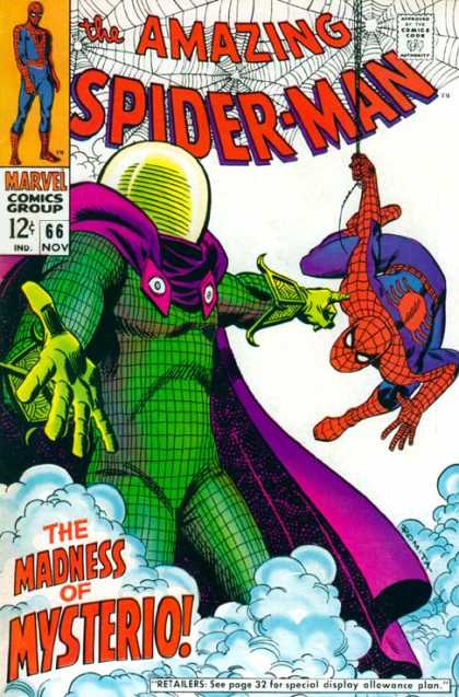 Amazing Spider-Man 66 - Mysterio - Smoke - Superhero - Clouds - Marvel
