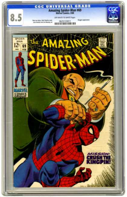 Amazing Spider-Man 69 - Kingpin - Cigarette - Crush - Hands - Webs