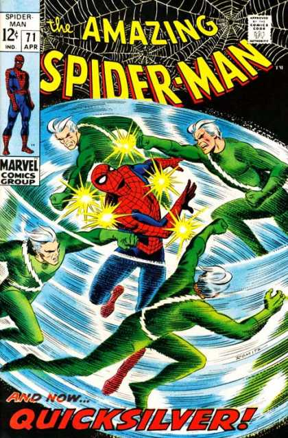 Amazing Spider-Man 71 - Quicksilver - Punch - Fighting - Fast - Fight