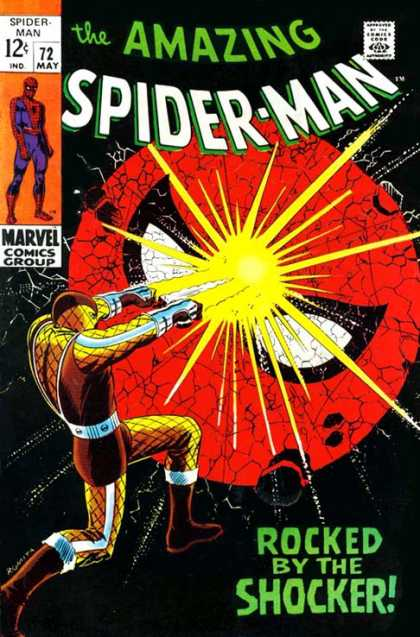 Amazing Spider-Man 72 - Shocker - Flash - Rocked By The Shocker - Marvel - Rocked