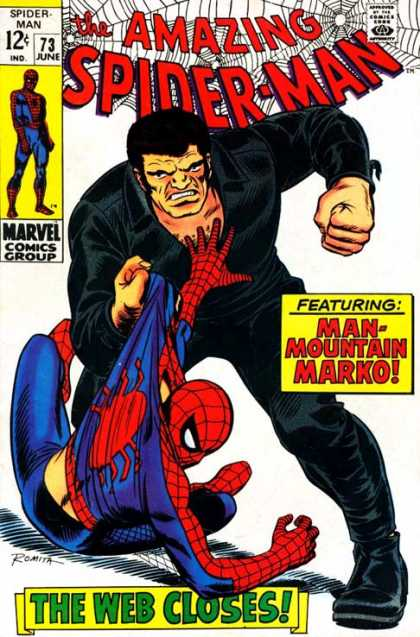 Amazing Spider-Man 73 - Blac - Fisted - Spider Worries - Onyx Breaks Spidey - Mountain