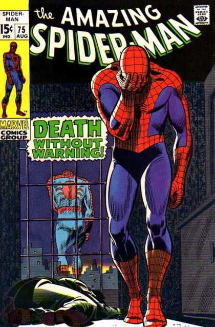 Amazing Spider-Man 75 - Sad - John Romita - Death - Marvel Comics - Death Without Warning