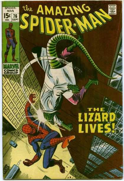 Amazing Spider-Man 76 - Lizard - Spiderman - Marvel - Hero - Fight