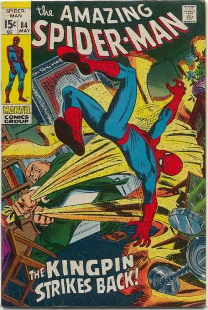 Amazing Spider-Man 84 - Kingpin - Carpet - Rug - Mid-air Flip - Mask