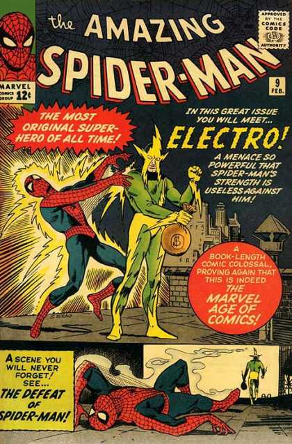 Amazing Spider-Man 9 - Electro - Spiderman - Spider-man - Superheroe - Mutants