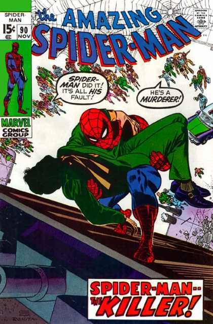 Amazing Spider-Man 90 - Murderer - Killer - Spiderman