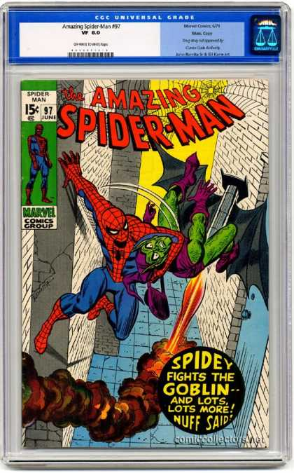Amazing Spider-Man 97 - Goblin - Green Goblin - Fight - Marvel - Skyscrapers