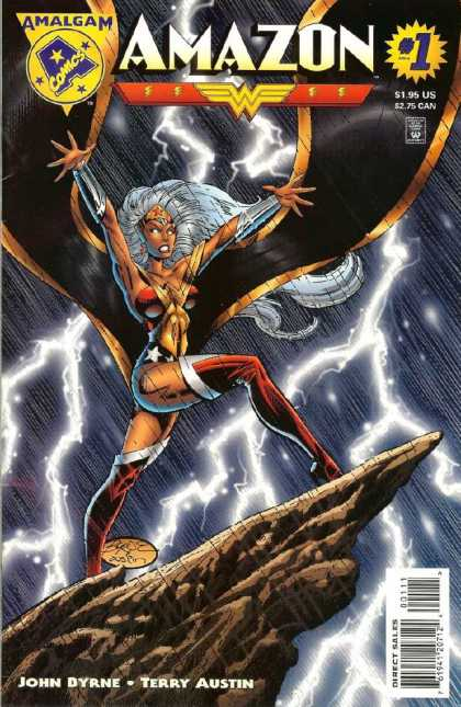 Amazon 1 - Storm - Lightning - Cliff - Rain - Glowing Eyes - John Byrne, Terry Austin