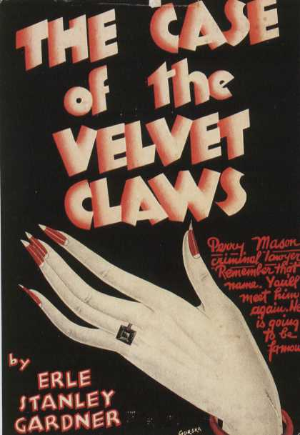 American Book Jackets - The Case of the Velvet Claws