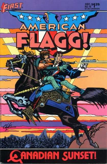 American Flagg 15 - 1first - 1first Comics - Flagg - Canadian Sunset - Shotting