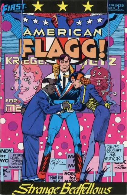 American Flagg 19 - First - Science Fiction - Howard Chakyn - Mayor - Cat