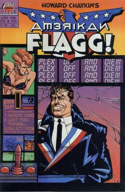 American Flagg 2 - Howard Chaykinns - Plex Off And Die - First - Insert Card - Select Mode