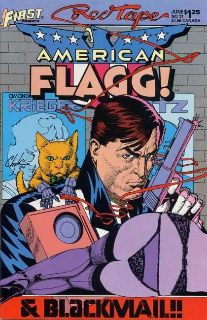 American Flagg 21 - First - Red Tape - June - No 21 - 125