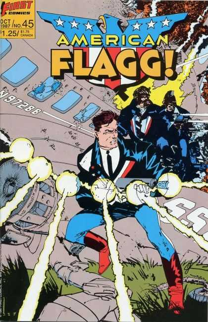 American Flagg 45 - First Comics - Oct 1987 - 175 Canada - Tie - No45