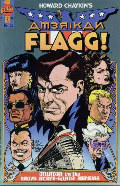 American Flagg 8 - People - Comic - Train - Frames - Characters